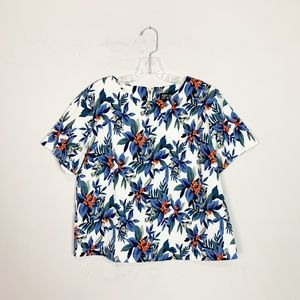 Poppy Lux blue & white floral print boxy top 8
